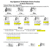 Key Signatures 70 Multiple Choice