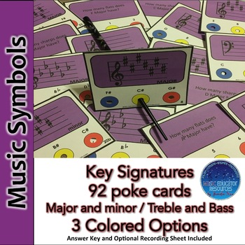 Key Signatures Poke Cards