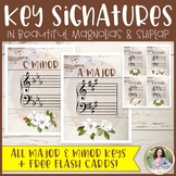 Key Signatures Posters Plus FREE Flash Cards {Magnolia Mus