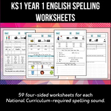Key Stage 1 Year 1 English Spelling and Phonics Worksheets