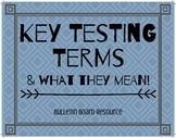 Key Test Terms- Bulletin Board