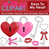 Key To My Heart Clip Art (Digital Use Ok!)