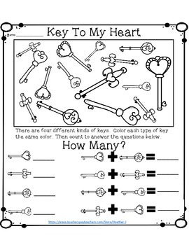 Key To My Heart - Color and Count