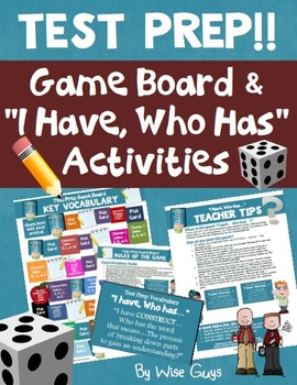 Test Prep Vocabulary Game Board Activity
