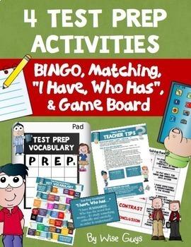 Test Prep Vocabulary Activities Bundle