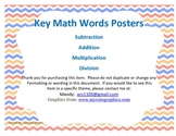 Key Word Math Posters