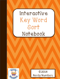 Key Word Sort Ineractive Notebook Page