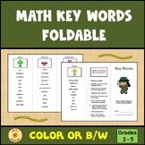 Math Key Words Word Problems Brochure Trifold