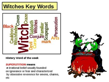 Key Words Game for Witchcraft in Tudor and Stuart England