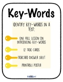 Key Words Lesson with Task Cards!