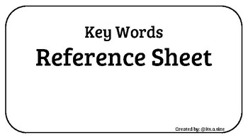 Key Words Resource