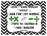 Key Words & Steps to Solving Word Problems Mini Posters