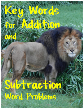 Key Words for Addition and Subtraction Word Problems