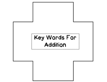 Key Words for Addition and Subtraction sorting