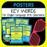 Key Words for English Classrooms 36 Printable Key Word Posters Display ELA Decor