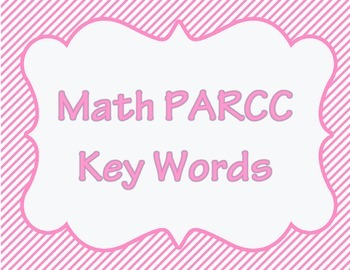 Math PARCC Key Words