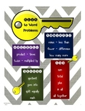 Key Words in Math Word Problems Poster