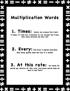 Key Words of Math Word Problems