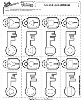 Key and Lock Shape Matching