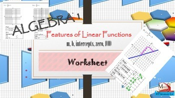 Linear Functions - Sketching linear graphs from linear equations