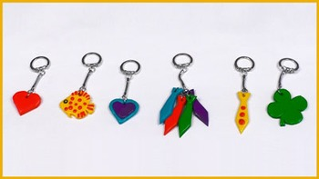 Key fob craft for Father's Day