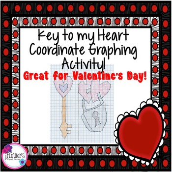 Key to my heart Coordinate Plane Graphing Activity. Great for Valentine's Day!