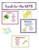 Key words math poster