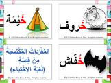 Key words of alphabet stories (flash cards)