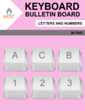 Keyboard Alphabet and Numbers Clipart