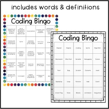 Coding Vocabulary Bingo Game