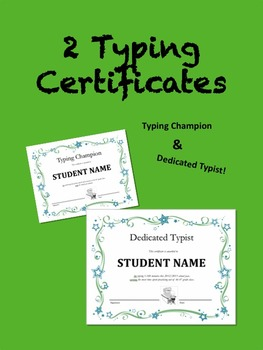 Keyboard Certificates