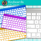 Keyboard Clip Art {Rainbow Computer Devices for Classroom