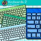 Keyboard Clip Art {Rainbow Computer Devices for Classroom Technology Use} 2
