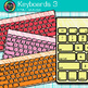 Keyboard Clip Art {Rainbow Computer Devices for Classroom Technology Use} 3