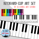 Keyboard Clip Art Set - Personal Use License