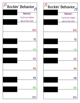 Keyboard Clip Up Chart for Behavior Tracking
