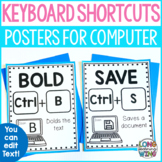 Keyboard Computer Shortcuts Posters Kid Friendly for PC an