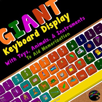 Large Keyboard Printable (With Toys, Animals, & Instrument