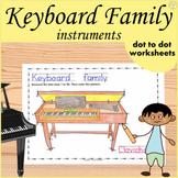 Keyboard Instruments Dot to dot Worksheets