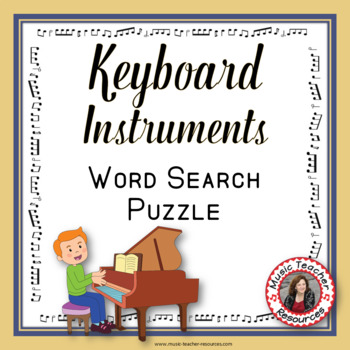 Music Word Search: Musical Instruments : Keyboard Instruments Game