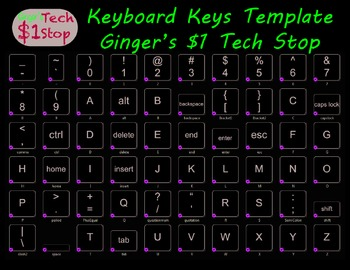 Keyboard Keys Template * Individual Keys * Wall Display