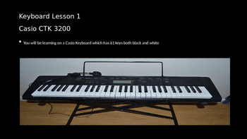Keyboard Lesson Piano Lesson 1