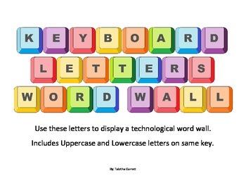 Keyboard Letter Word Wall