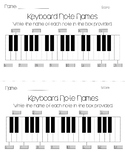 Keyboard Note Names Worksheet