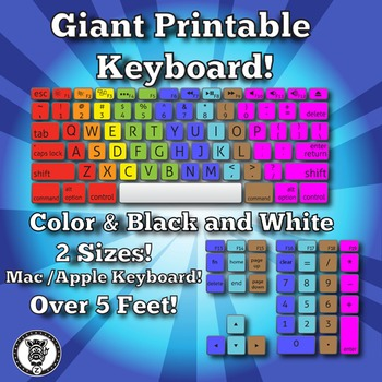 Giant Keyboard By Z Is For Zebra Teachers Pay Teachers