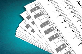 Keyboard Sheet Music: Go Tell Aunt Rhodie with MP3 Play-Along Track
