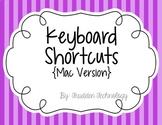 Keyboard Shortcut Posters {Mac Version}