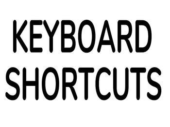 Keyboard Shortcuts Bulletin Board