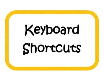Keyboard Shortcuts - Bulletin Board / Signs