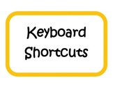 Keyboard Shortcuts - Bulletin Board / Signs